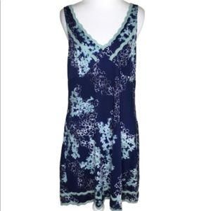 Soma Blue & White Floral Sleeveless Nightgown M